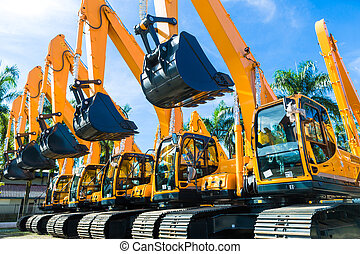 Shovel excavator on Asian rental company site - Vehicle...