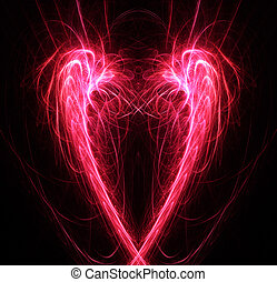 Heart abstract background. Digital generated this image