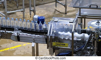water bottle conveyor industry modern industry large factory