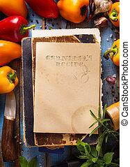 hälsosam,  bio, grönsaken, konst, mat