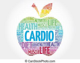 Cardio - Colorful Cardio apple word cloud concept