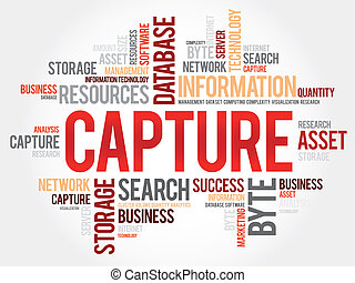 Capture word cloud, business concept