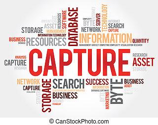 Capture word cloud, business concept