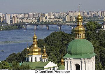Aerial view on Kiev