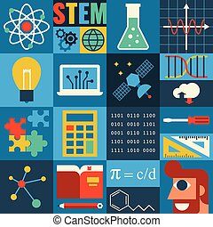 STEM Education - Illustration of STEM education in apply...