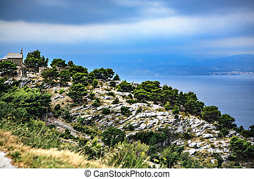 Adriatic coast near Split in Croatia