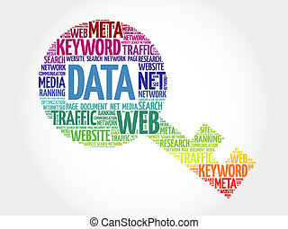 DATA Key word cloud, business concept