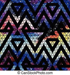 Galaxy seamless pattern. - Galaxy seamless pattern with...