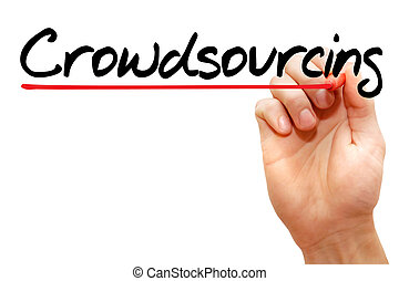 Crowdsourcing - Hand writing Crowdsourcing with marker,...