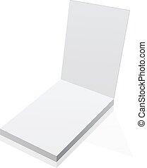 blank realistic notepad notebook isolated on white vector...
