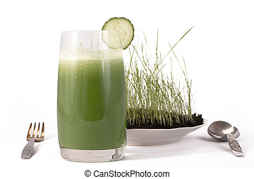 Meal from a chlorophyll. - Dietary set of meal for a dinner...