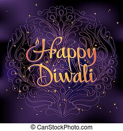 Beautiful greeting card for Hindu community. Happy diwali...