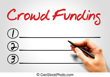 CROWD FUNDING blank list, business concept