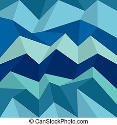 Polygonal blue pattern. Zigzag vector background, wall...