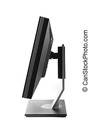 Computer monitor isolated - side view
