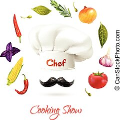 Cooking Show Concept - Cooking show realistic concept with...