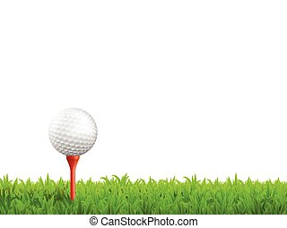 Golf Realistic Illustration - Golf realistic background with...