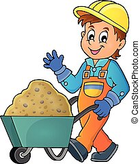 Construction worker theme image 1