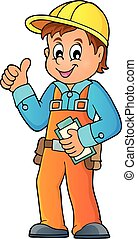 Construction worker theme image 3 - eps10 vector...