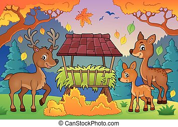 Deer theme image 3 - eps10 vector illustration.