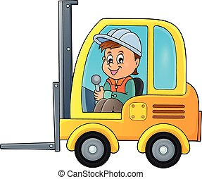 Fork lift truck theme image 2