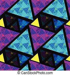 bright colored polygons. abstract psychedelic background. seamless pattern. vector illustration