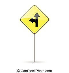 Traffic Signal - abstract traffic signal on a white...