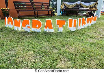 congratulation board