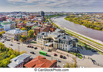Office building near quay on Tura river Tyumen - Tyumen,...