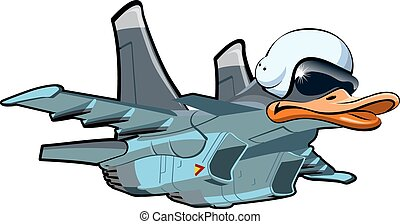 Cartoon Jetbird 1 - Vector Cartoon Jetbird 1 Available...