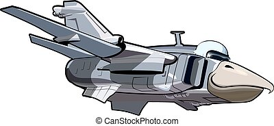 Cartoon Jetbird 3 - Vector Cartoon Jetbird 3. Available...