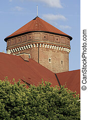 Cracow - Tower of the Wawel Royal Castle in Cracow