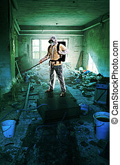 contamination in a old and squalid building