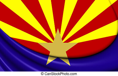 Flag of Arizona, USA. - 3D Flag of Arizona, USA. Close Up....