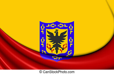 Flag of Bogota, Colombia - 3D Flag of Bogota, Colombia Close...