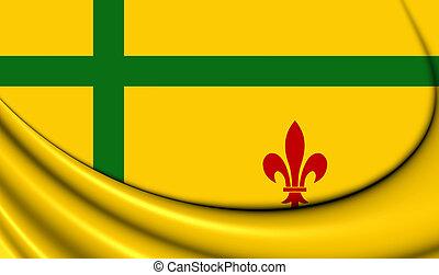 Flag of Fransaskois, Canada. - 3D Flag of the Fransaskois,...