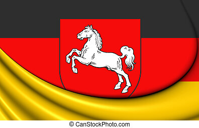 Flag of Lower Saxony, Germany - 3D Flag of Lower Saxony,...