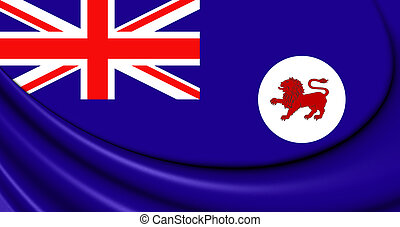 Flag of Tasmania, Australia - 3D Flag of Tasmania, Australia...