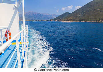 Transportation with ferryboat - The view from the ferry from...
