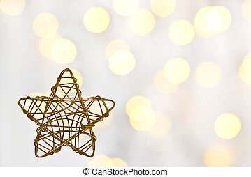 Christmas star on the white background