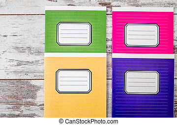 Colorful Notebooks with Name Label on Cover - Colorful...