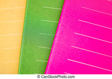 Colorful Notebooks with Lines on Cover - Colorful notebooks...