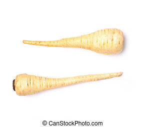 Parsnip on a white background