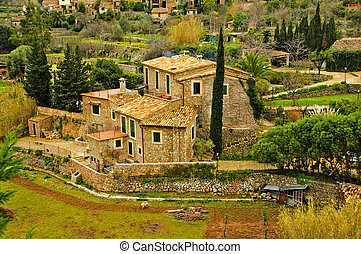 mediterranean village - a view of a Siurana, an ancient...