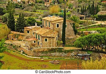 mediterranean village - a view of a Siurana, an ancient...