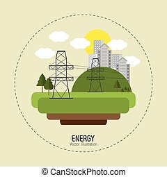 Save Energy design - Save energy concept with eco icons...