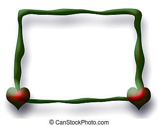 Green Love Frame