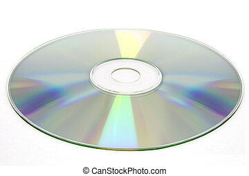 cd disc on white background, cd-r, cd-rw isolated