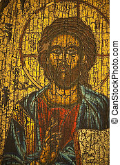 The Messiah - Image of a Greek Orthodox representation of...