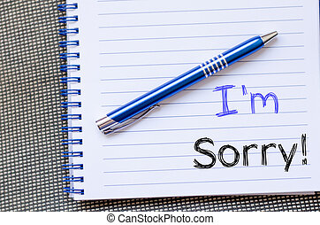 I'm, sorry, write, on, notebook